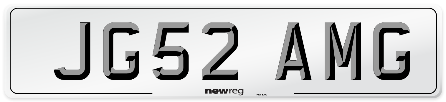 JG52 AMG Number Plate from New Reg