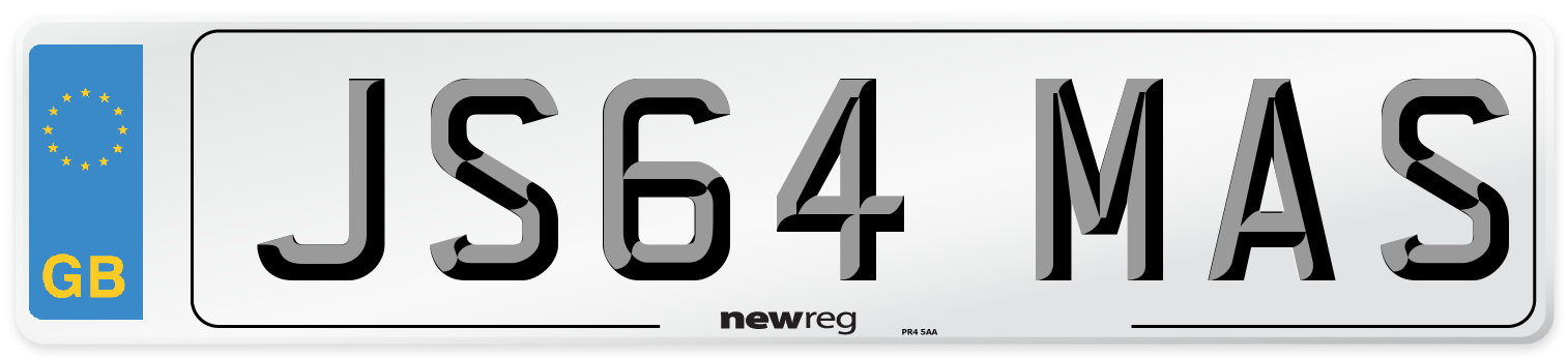 JS64 MAS Number Plate from New Reg