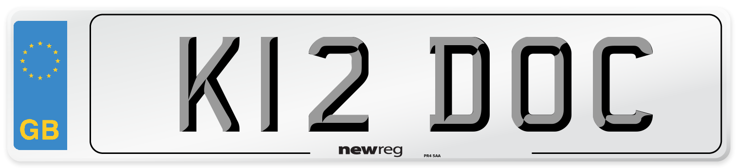 K12 DOC Number Plate from New Reg