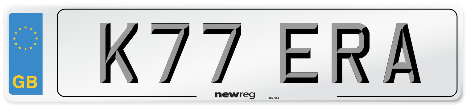 K77 ERA Number Plate from New Reg