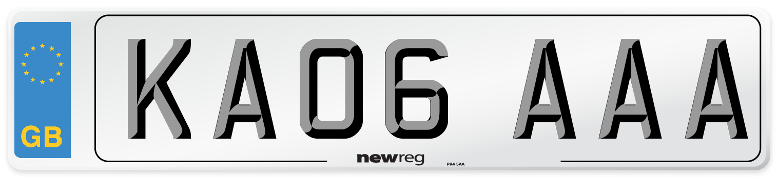 KA06 AAA Number Plate from New Reg