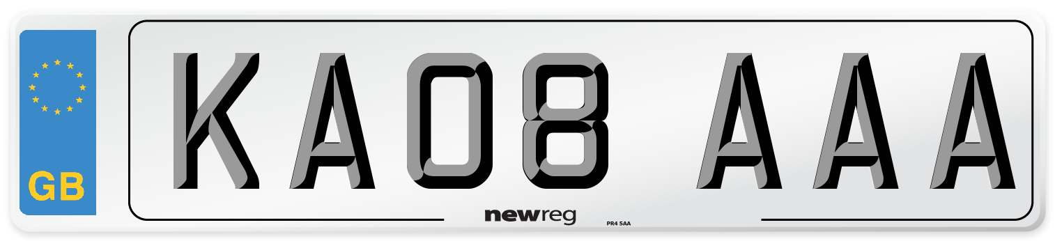 KA08 AAA Number Plate from New Reg