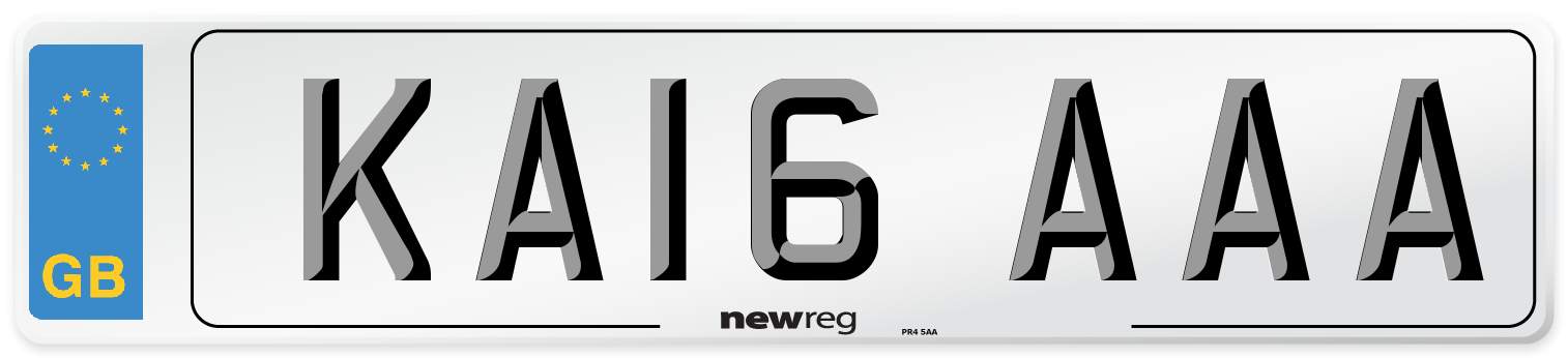 KA16 AAA Number Plate from New Reg