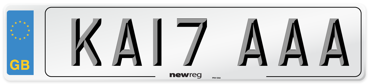 KA17 AAA Number Plate from New Reg