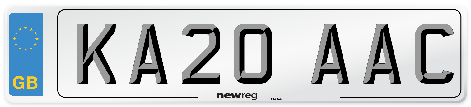 KA20 AAC Number Plate from New Reg
