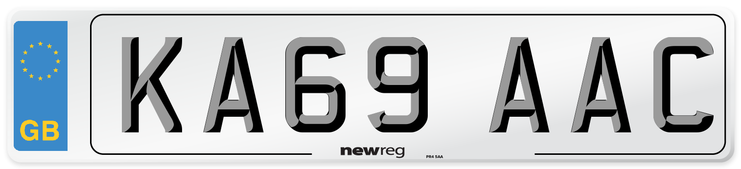 KA69 AAC Number Plate from New Reg