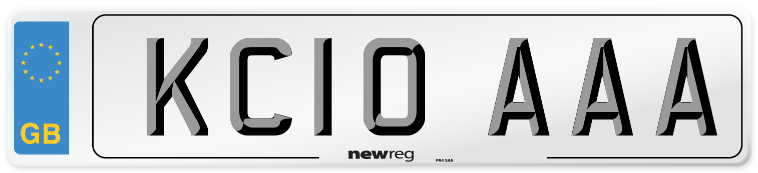 KC10 AAA Number Plate from New Reg