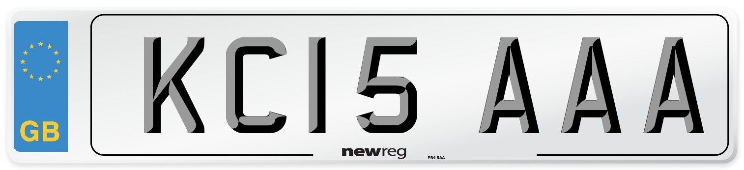 KC15 AAA Number Plate from New Reg