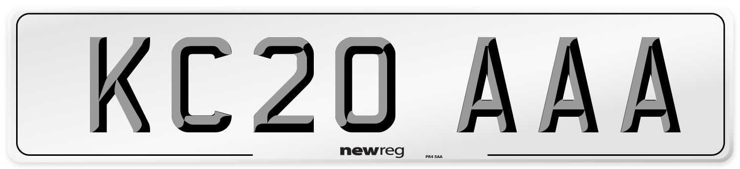 KC20 AAA Number Plate from New Reg