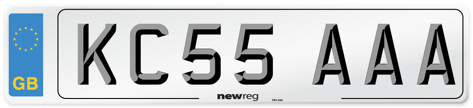KC55 AAA Number Plate from New Reg