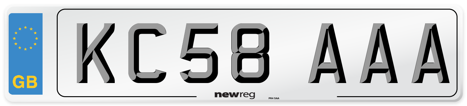 KC58 AAA Number Plate from New Reg