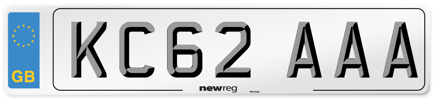 KC62 AAA Number Plate from New Reg