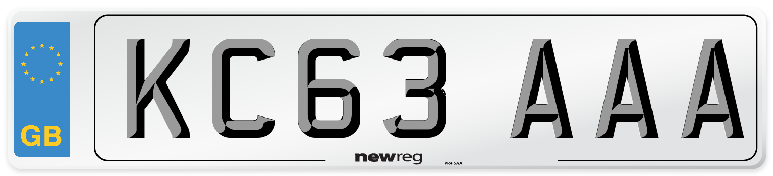 KC63 AAA Number Plate from New Reg
