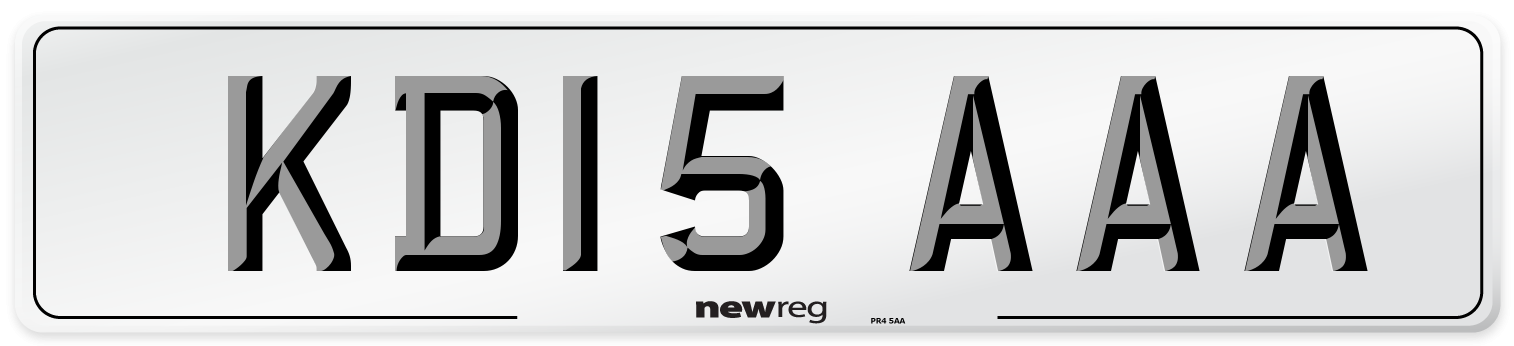 KD15 AAA Number Plate from New Reg