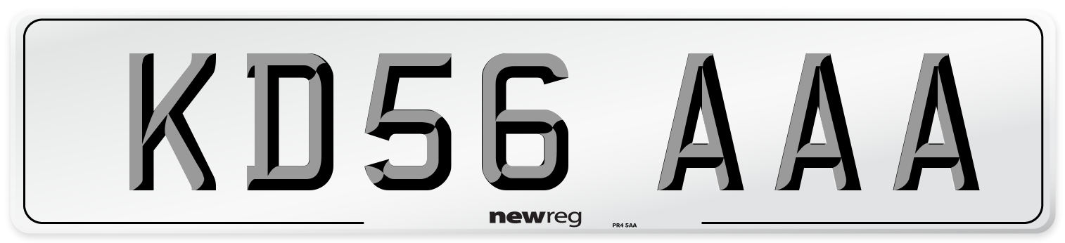 KD56 AAA Number Plate from New Reg
