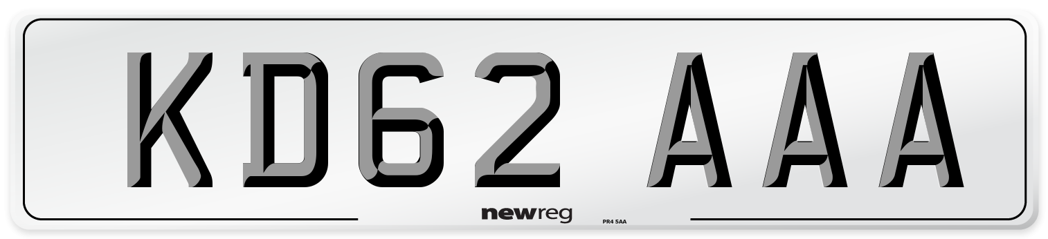 KD62 AAA Number Plate from New Reg