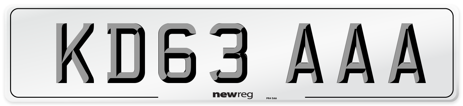 KD63 AAA Number Plate from New Reg
