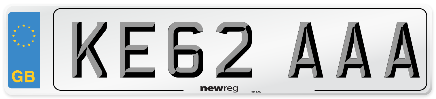 KE62 AAA Number Plate from New Reg