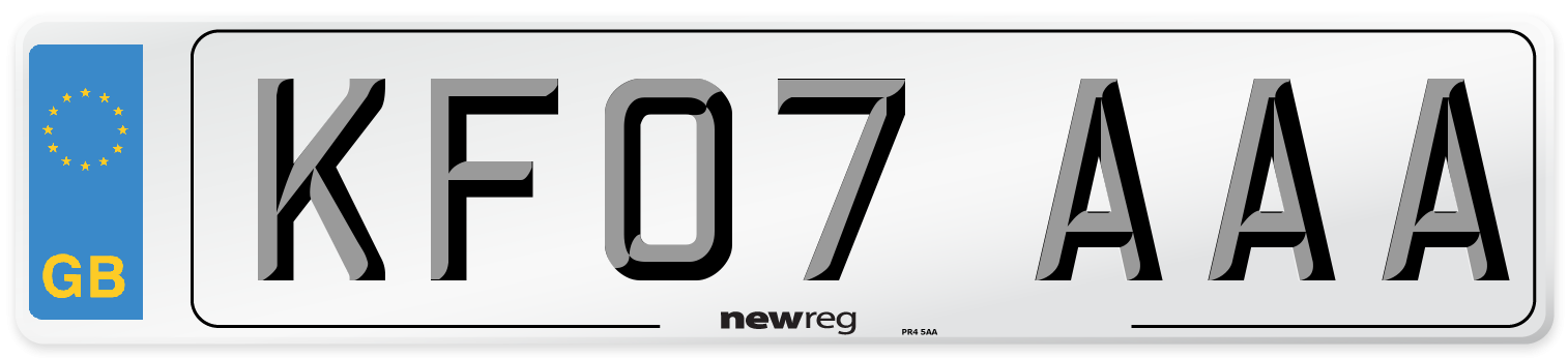 KF07 AAA Number Plate from New Reg