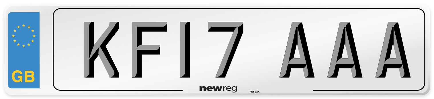 KF17 AAA Number Plate from New Reg