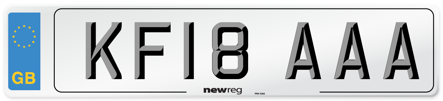 KF18 AAA Number Plate from New Reg
