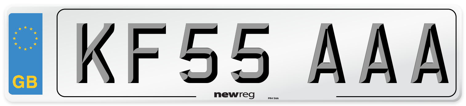 KF55 AAA Number Plate from New Reg