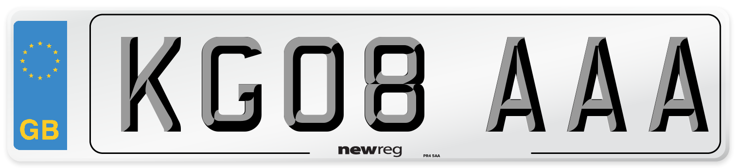 KG08 AAA Number Plate from New Reg