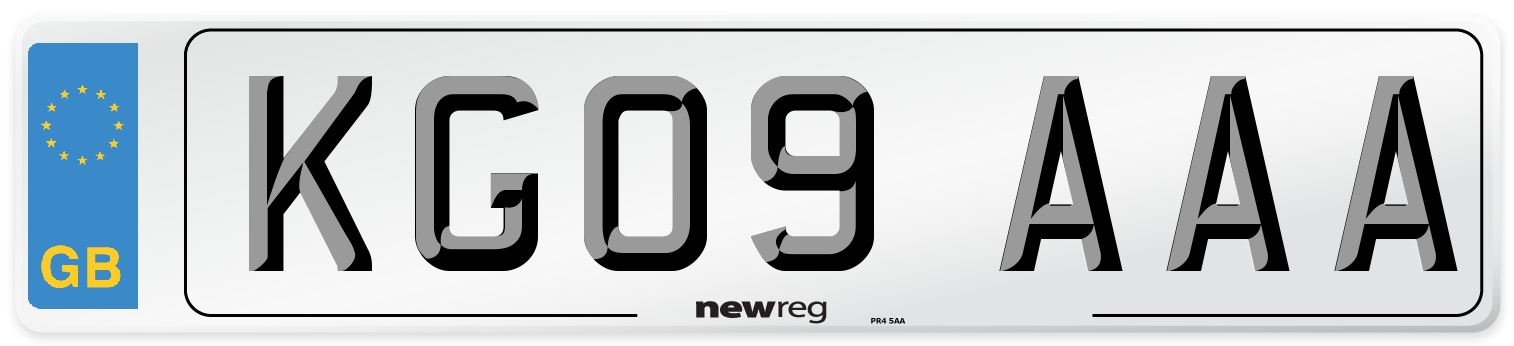 KG09 AAA Number Plate from New Reg