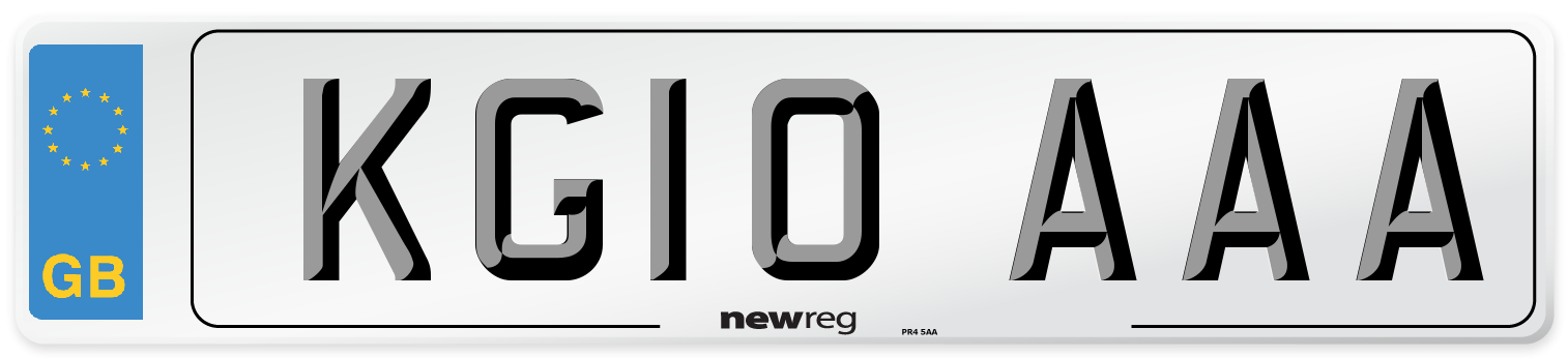 KG10 AAA Number Plate from New Reg