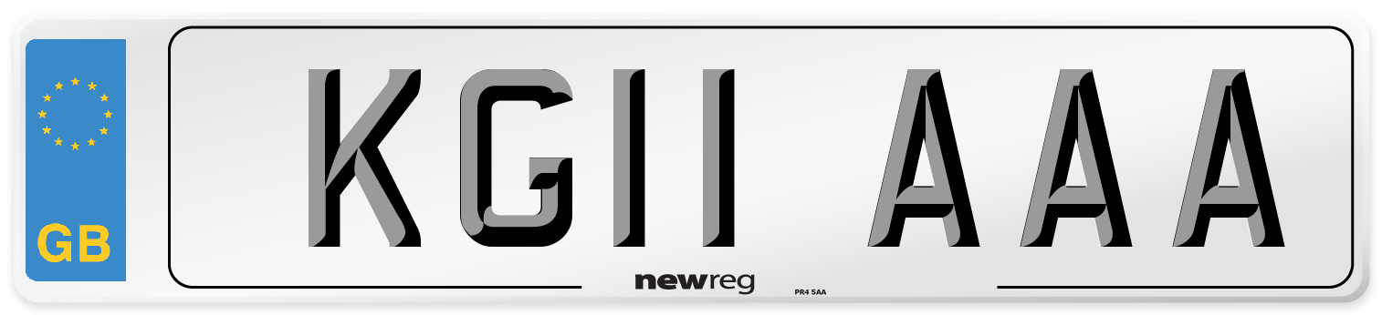 KG11 AAA Number Plate from New Reg