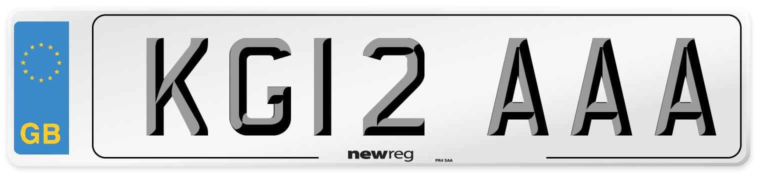 KG12 AAA Number Plate from New Reg