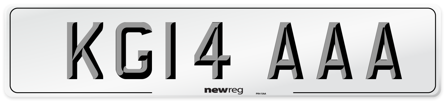 KG14 AAA Number Plate from New Reg