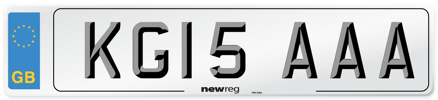 KG15 AAA Number Plate from New Reg