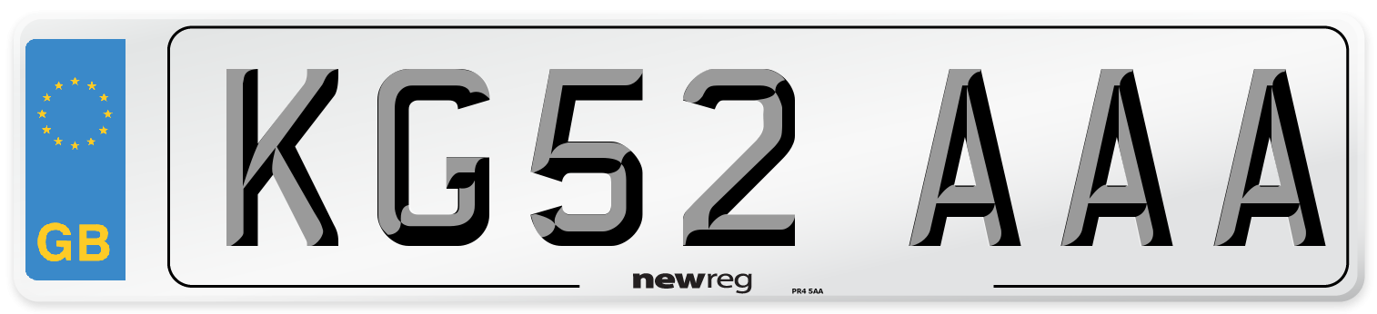KG52 AAA Number Plate from New Reg