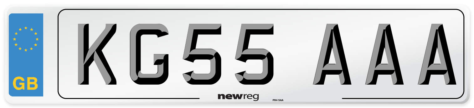 KG55 AAA Number Plate from New Reg