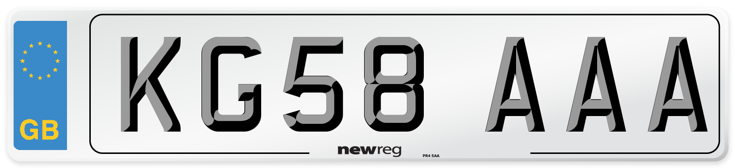 KG58 AAA Number Plate from New Reg