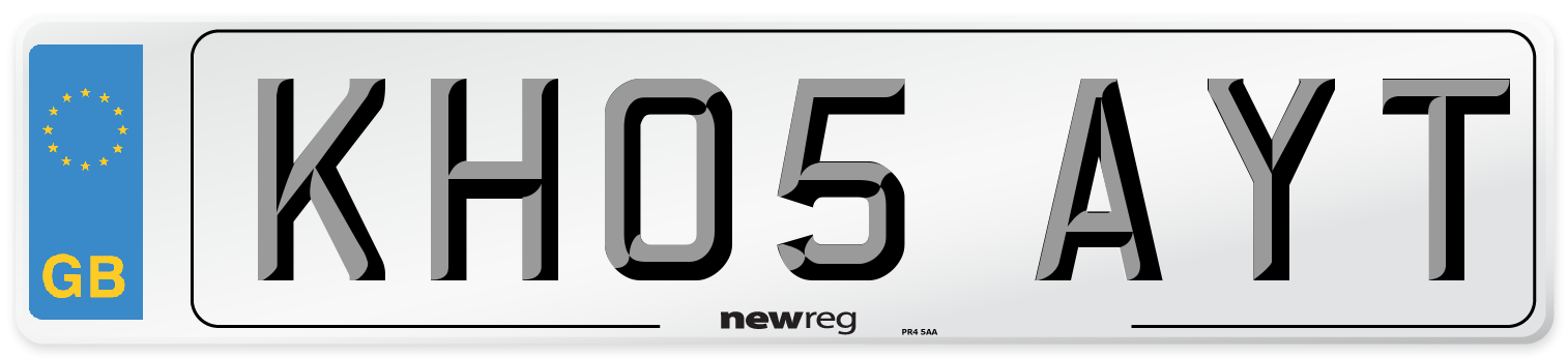 KH05 AYT Number Plate from New Reg