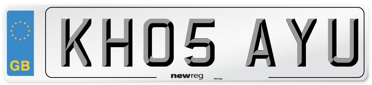 KH05 AYU Number Plate from New Reg
