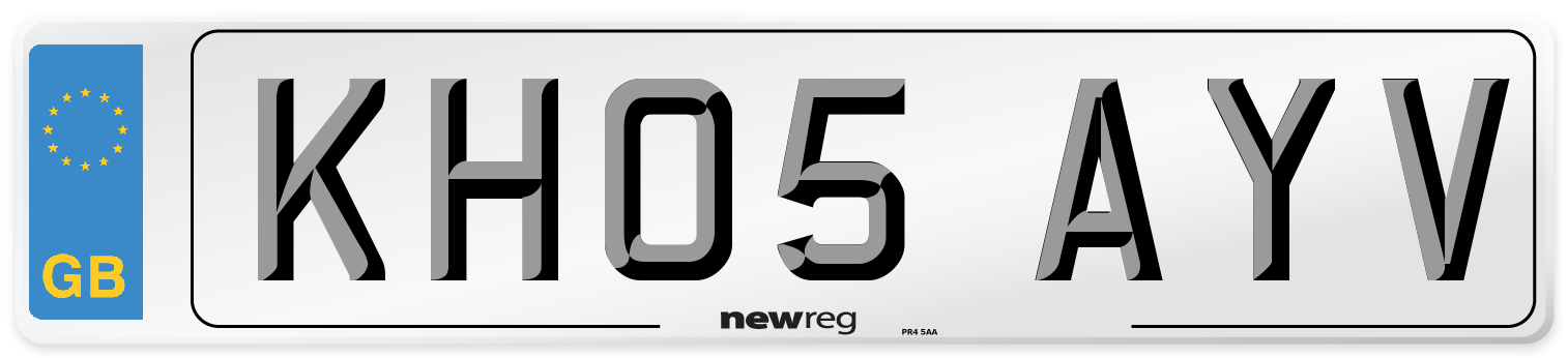 KH05 AYV Number Plate from New Reg