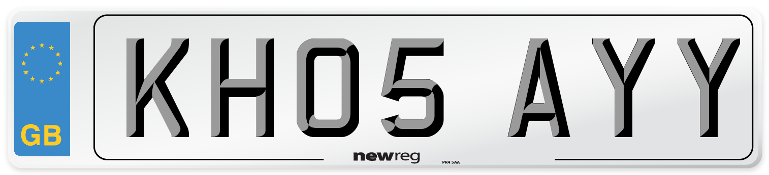 KH05 AYY Number Plate from New Reg