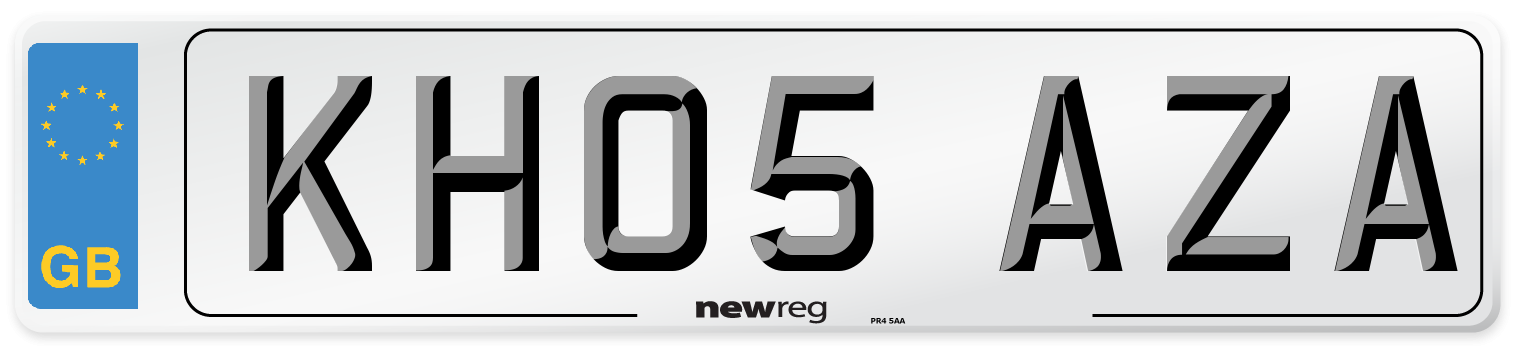 KH05 AZA Number Plate from New Reg