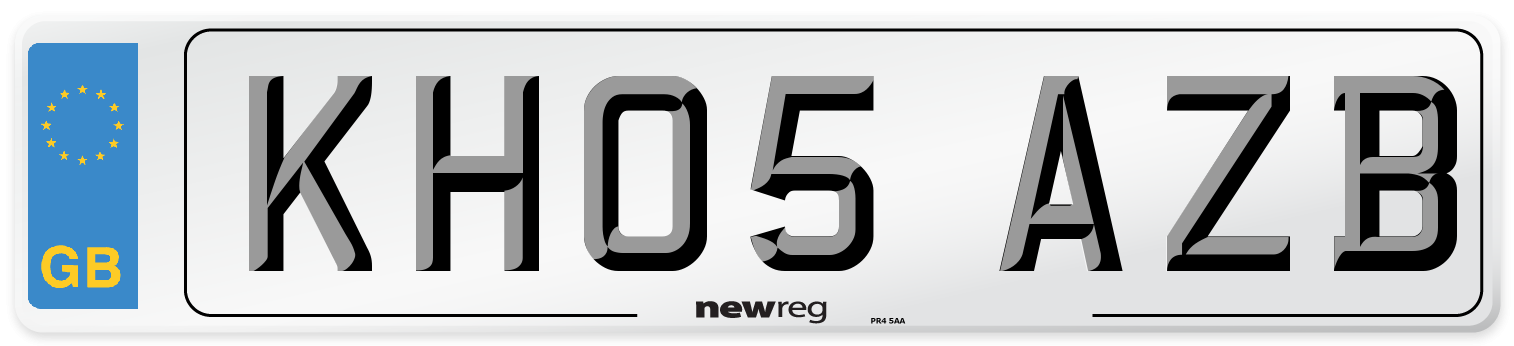 KH05 AZB Number Plate from New Reg