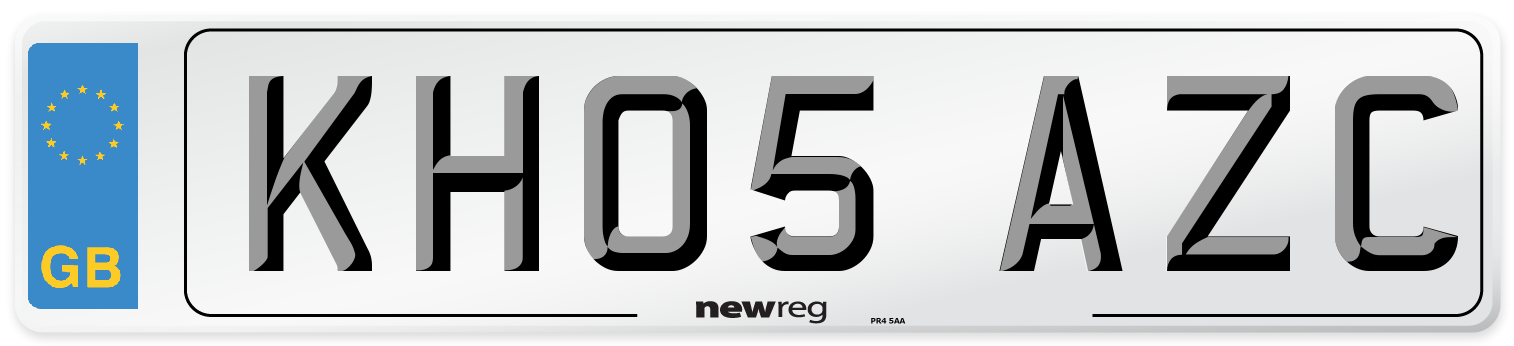 KH05 AZC Number Plate from New Reg