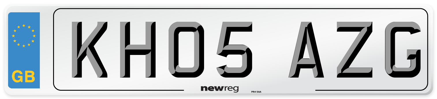 KH05 AZG Number Plate from New Reg