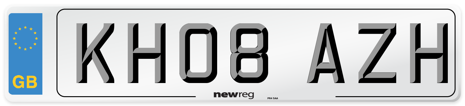 KH08 AZH Number Plate from New Reg