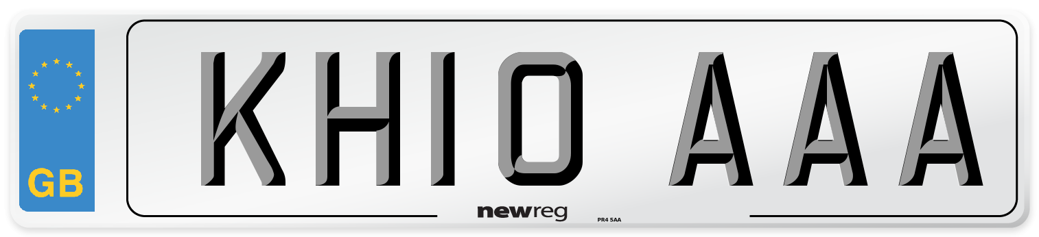 KH10 AAA Number Plate from New Reg