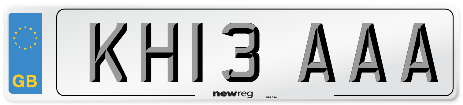 KH13 AAA Number Plate from New Reg