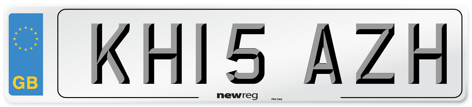 KH15 AZH Number Plate from New Reg