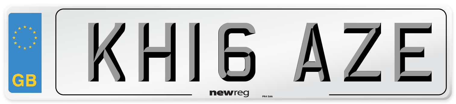 KH16 AZE Number Plate from New Reg