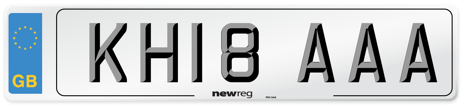 KH18 AAA Number Plate from New Reg